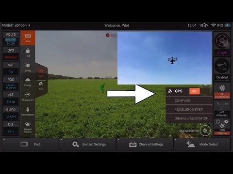 Yuneec Typhoon H - NEW Firmware Test Part 1-  GPS ON/OFF Flight Test