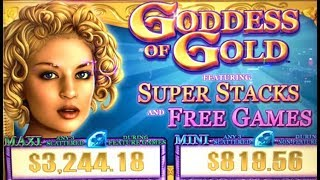 ★GODDESS OF GOLD★ FULL SCREEN OF!? FEAT. SUPER STACKS (IGT) Slot Machine Bonus