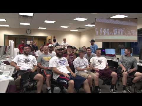 Franklin Pierce Baseball Watches NCAA Selection Show