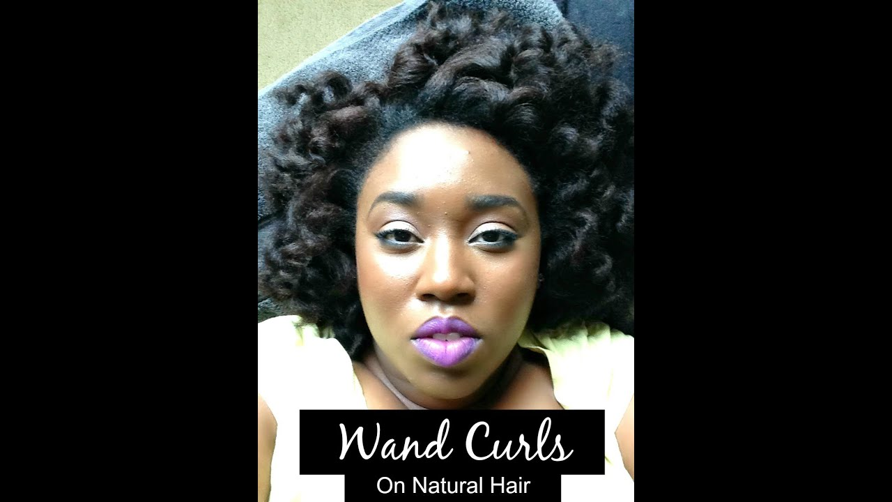 Using A Curling Wand On Natural Hair