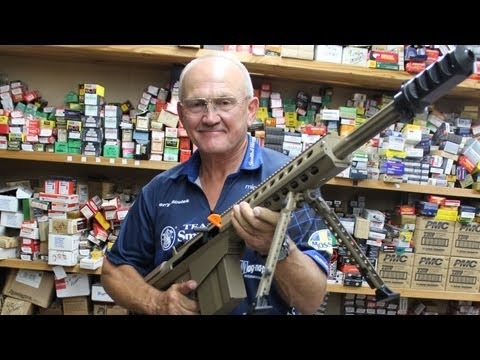 """BARRETT 50 CAL IMPOSSIBLE """"V-DRILL"""" with FASTEST shooter, Jerry Miculek! M107 M82"""