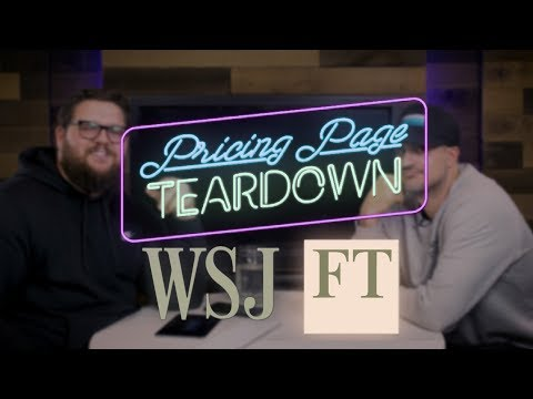 The Wall Street Journal vs. The Financial Times | Pricing Page Teardown