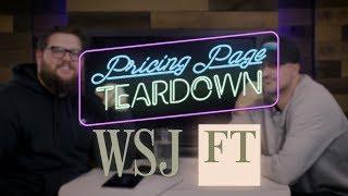 The Wall Street Jouŗnal vs. The Financial Times   Pricing Page Teardown