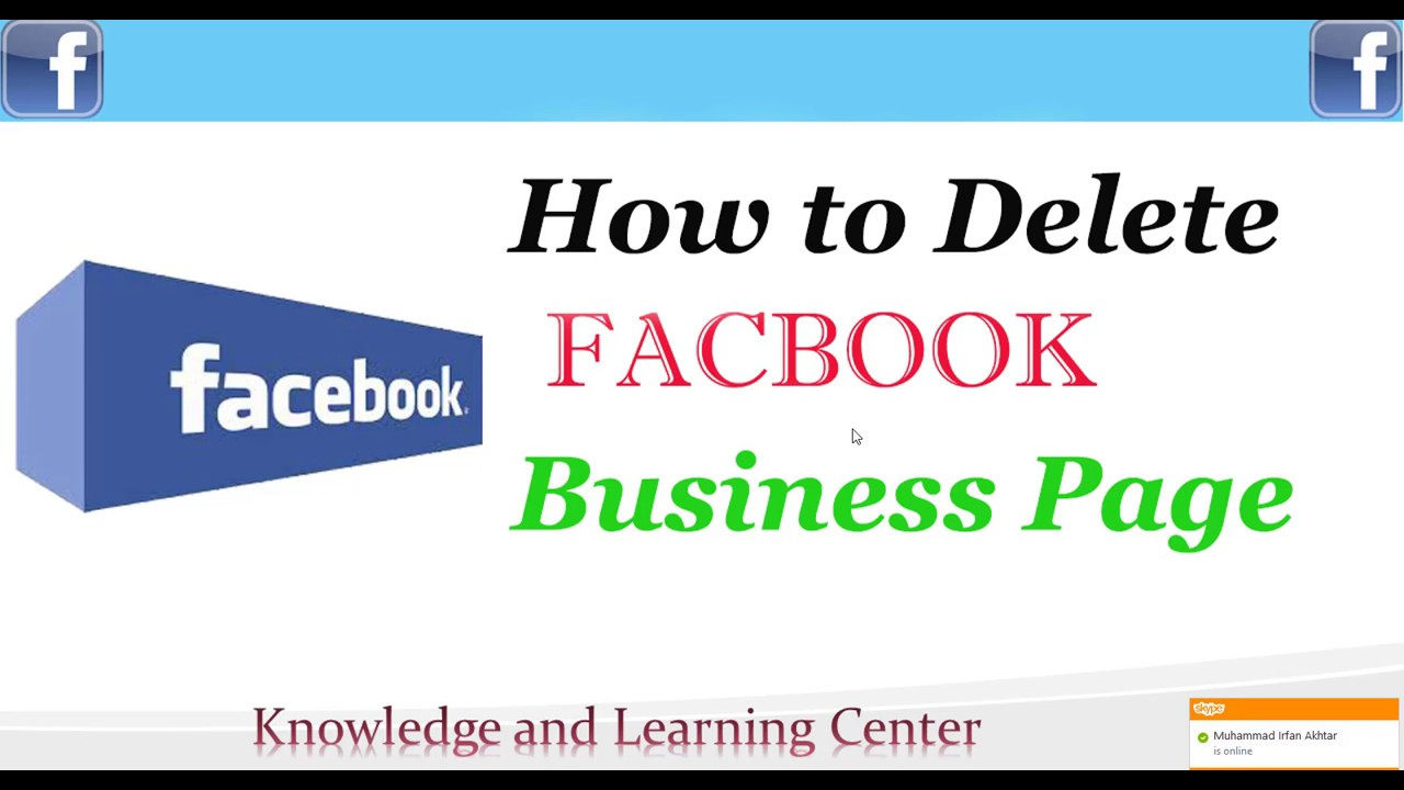 How To Delete A Facebook Business Page  Delete Facebook Page