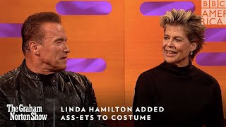 Linda Hamilton Adds Ass-ets To Costume | The Graham Norton Show | Friday at 11pm | BBC America