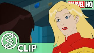 Watch Captain Marvel in Marvel Rising on Marvel HQ!