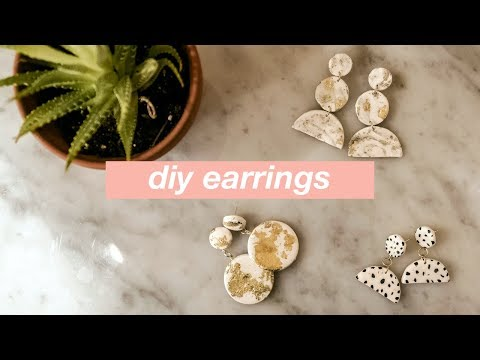 DIY Statement Earrings: How to Make 3 Easy Geometric Clay Earring Projects