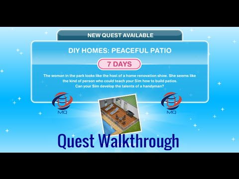 The Sims FreePlay – DIY Homes: Peaceful Patio Discovery Quest (Walkthrough)