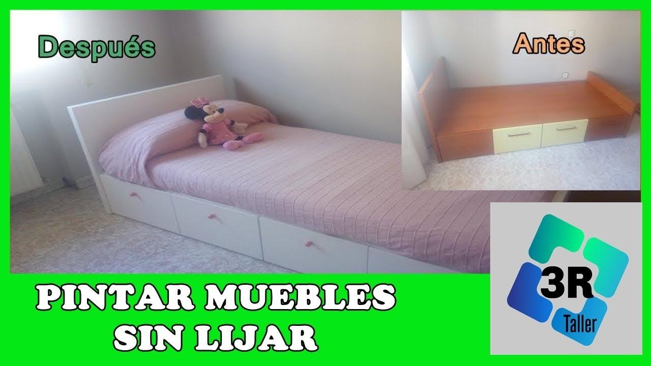 Como pintar tus muebles sin lijar decora y renueva youtube - Muebles color cerezo como pintar paredes ...