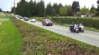 Obama motorcade returning to Arlington, WA airport from Oso landslide site