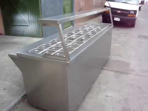 COCINAS INDUSTRIALES MUEBLES DE ACERO INOXIDABLE - YouTube