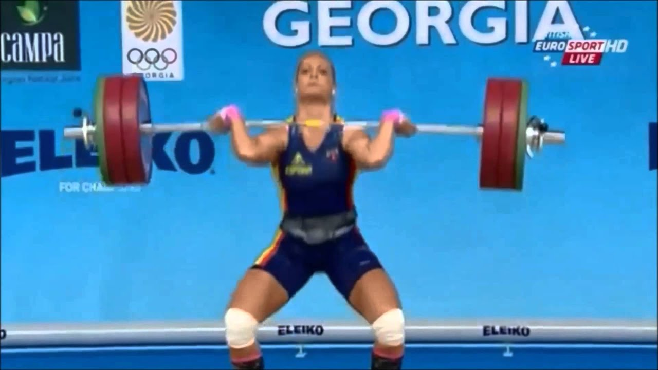 Lidia Valentin At 2015 European Weightlifting Championship   YouTube