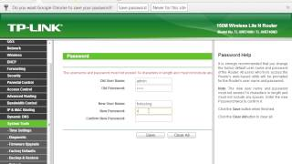 How to Change Administrative password on TP Link ADSL Router