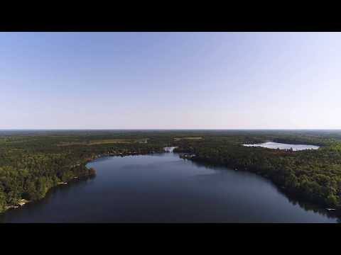 Drone Video Of South Twin Lake (Near Minong And Webb Lake, WI)