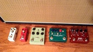 guitar overdrive pedal comparison bb gristle king moller eno ac30 with humbuckers