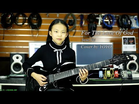Steve Vai - For The Love Of God - Cover by YOYO - A 10 year old girl