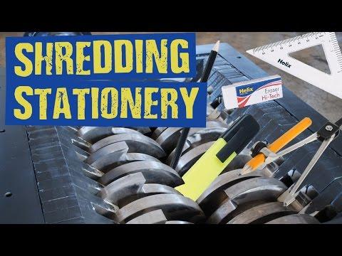 Shredding Stationery - Shredding Stuff #34