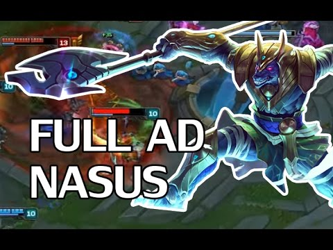 how to build ad league of olegends youtube