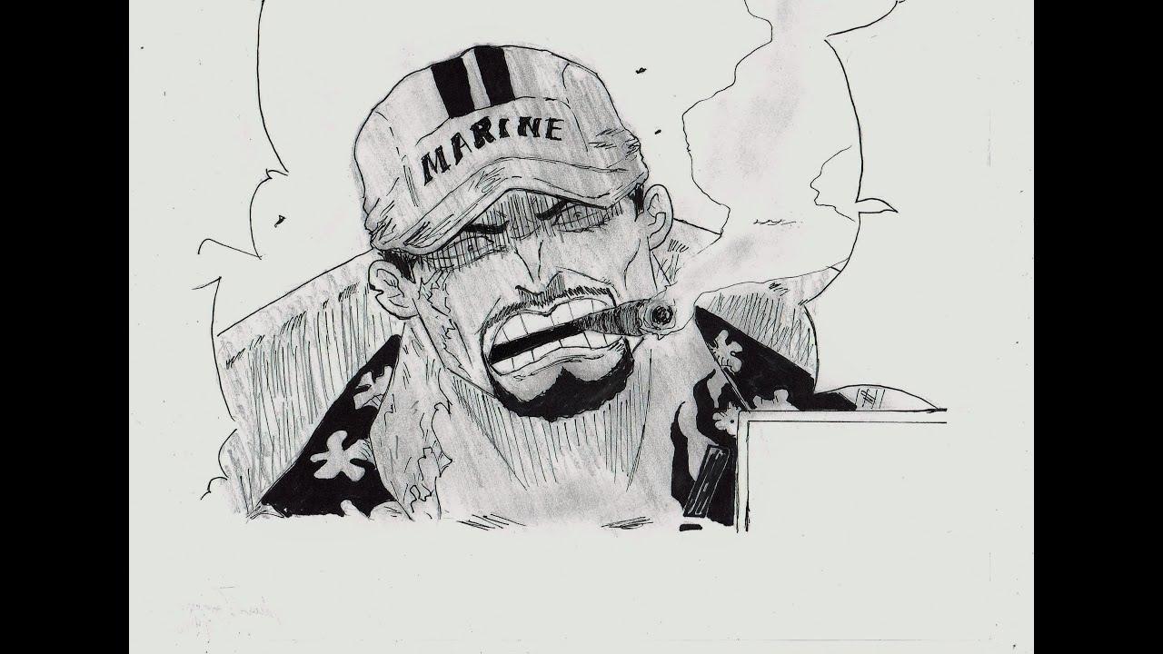 One Piece Lineart : How to draw akainu sakazuki サカズキ one piece youtube