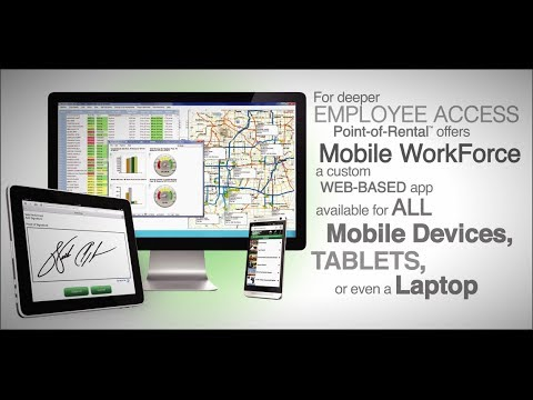 Point-of-Rental System's Integrated Website Module & Mobile WorkForce App