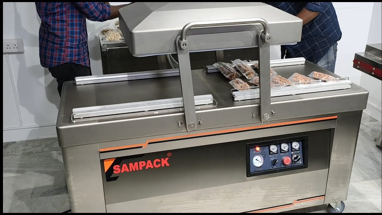 Download Double chamber Vacuum packaging machine,  Commercial Vacuum Packing machine for Bulk production