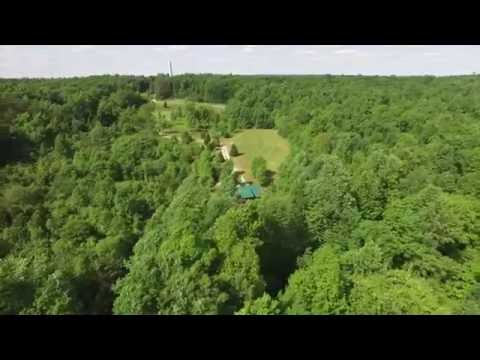 Hickory Cabins - Aerial view of Hickory Haven cabin - Mammoth Cave, Ky