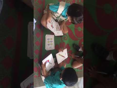 Sharva at DPS @ flash cards activity