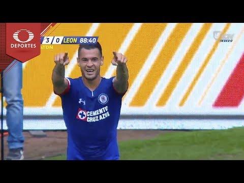 Gol de Milton Caraglio   Cruz Azul 3 - 0 León   Apertura 2018 - J5   Televisa Deportes