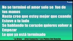 Ariel Camacho La Bruta Letra