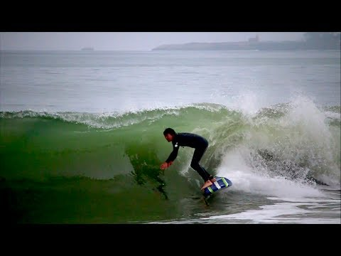 Surfing Barrels in Santa Cruz *SHORE BREAK*