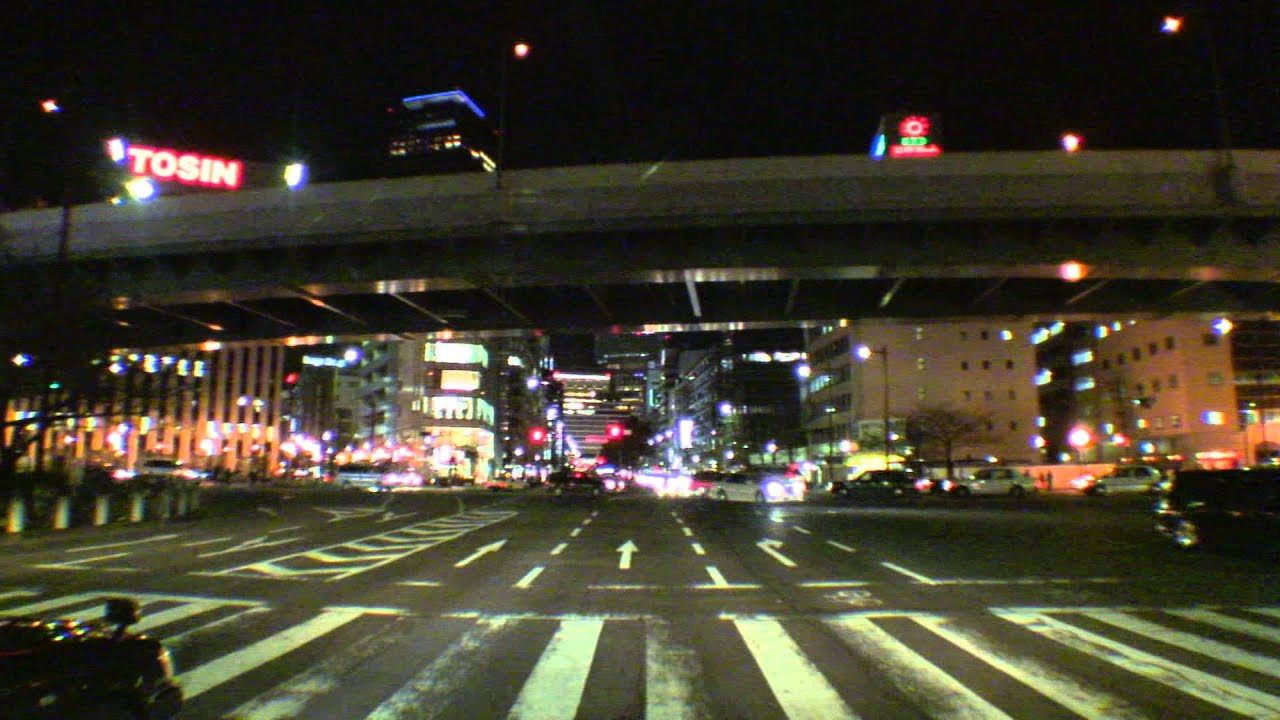 Car Hdr Wallpaper Nagoya City Night Driving Youtube