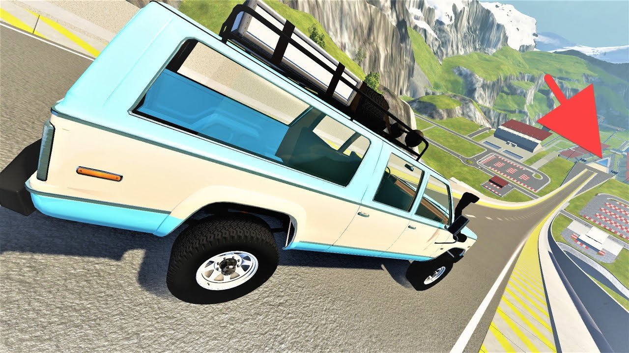 Epic High Speed Jumps! BeamNG Drive Crashes by Dlan Cars