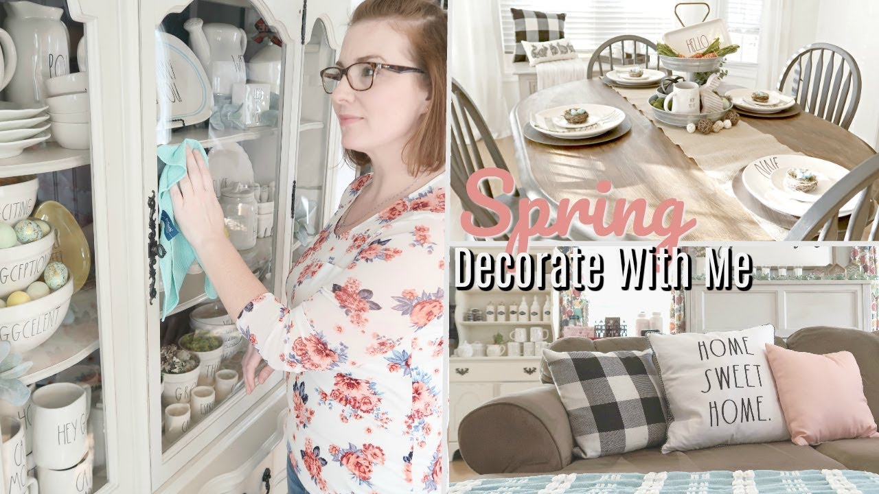 Spring Clean and Decorate With Me 2019  || Farmhouse Decor || How to Style Rae Dunn