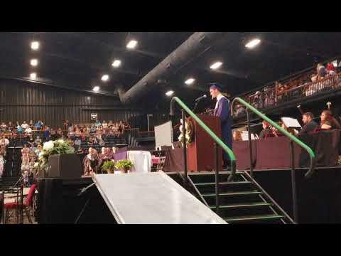 Liam Larson addresses Shawnee grads