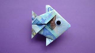 Geldscheine falten: Fisch 🐟 Geld falten zur Hochzeit - Einfache Geldgeschenke basteln
