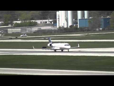 Business Jet Departs Port Columbus International Airport