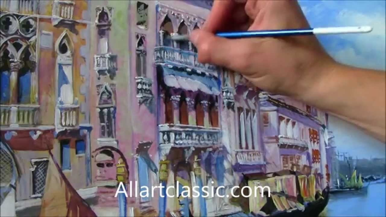 Painting a venetian lanscape do it yourself youtube solutioingenieria