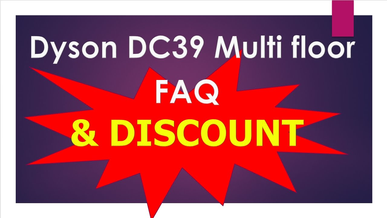 Dyson DC39 Multi Floor Canister Vacuum Cleaner | Dyson DC39 Vacuum Cleaner  | Dyson DC39 Review U0026 FAQ   YouTube