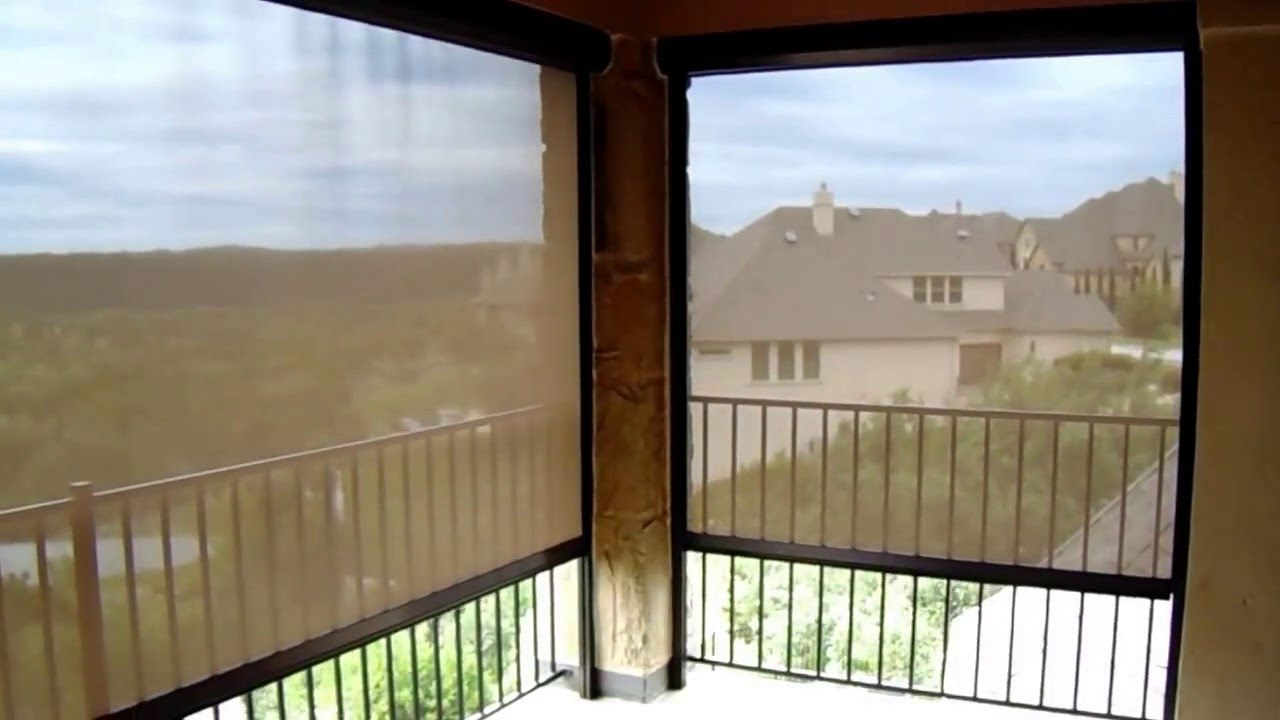 Motorized Exterior Patio Shade - Steiner Ranch, Austin, TX - YouTube