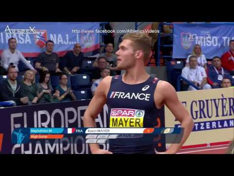 Kevin Mayer indoor european champion's full heptathlon, ER 6479pts Belgrade 2017
