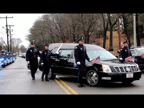 Mcycle officer Gregory Maloney's funeral*