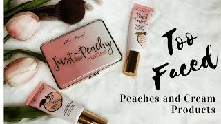 GRWM using Too Faced Just Peachy collection products / mature beauty/hooded eyes