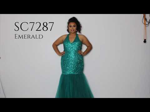 fitted-mermaid-plus-size-halter-dress-sc7287-by-sydney's-closet