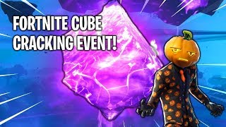 FORTNITE CUBE CRACKING OPEN EVENT - LIVE (KEVIN THE CUBE) PART 3