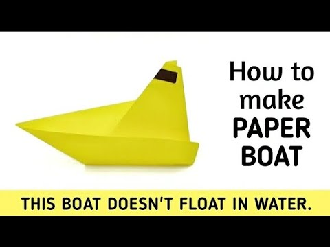 How To Make An Origami Paper Boat