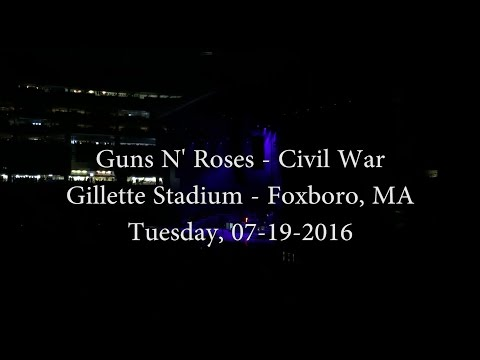 Guns N' Roses - Civil War (Live full song) - Gillette Stadium - Foxboro, MA - 07-19-2016