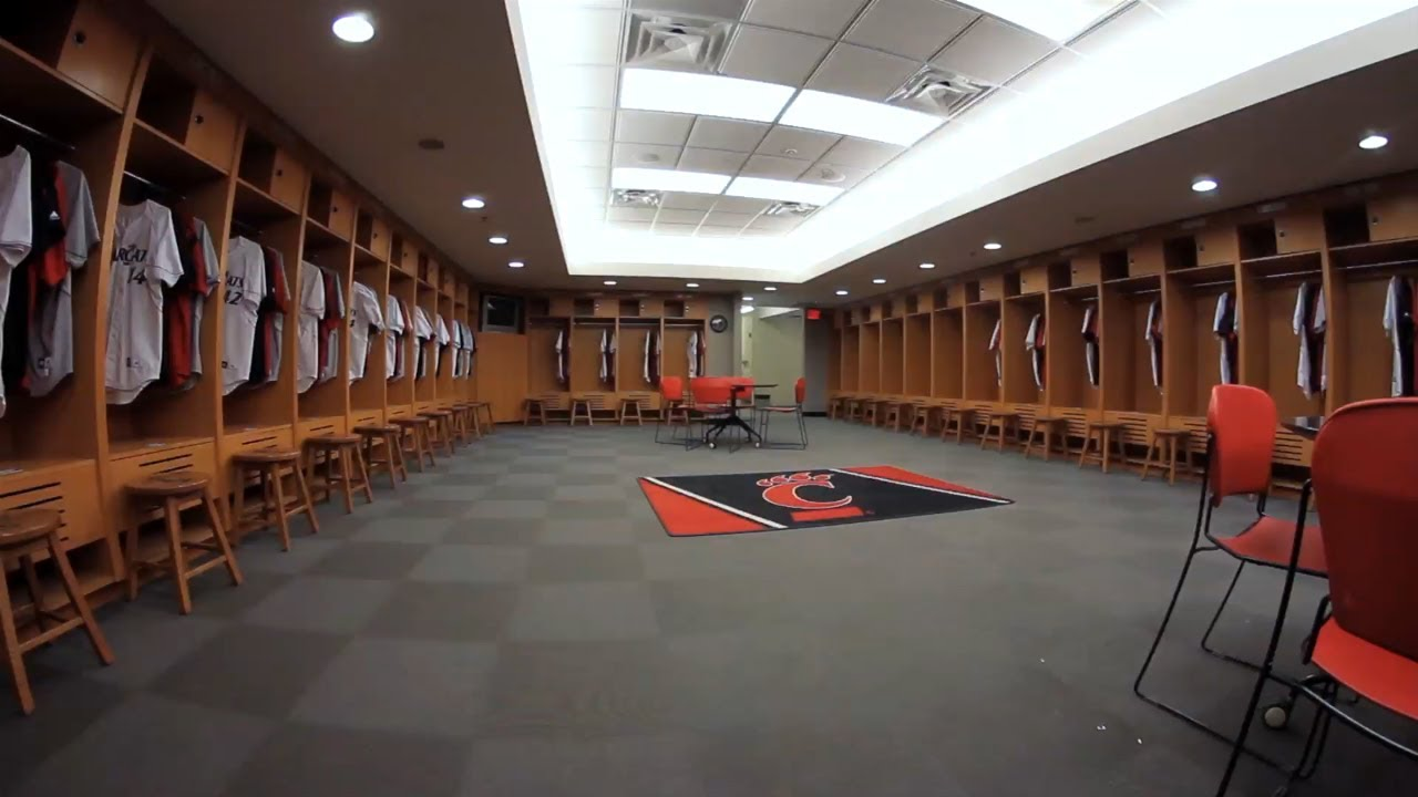 The University Of Cincinnati Athletic Facility Video Baseball Locker Room