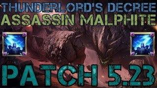 ► Patch 5.23 - 16Kills Assassin Malphite Jungle! - Diamond Commentary - League of Legends