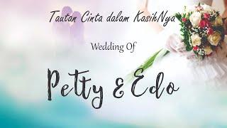 Ibadah Pemberkatan Pernikahan Edo & Petty di GKJW Rungkut, 8 Agustus 2020