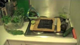 Rohkost Rezept Tutorial: Rohtopia's Sushi Vegan - Raw Nori Rolls ★